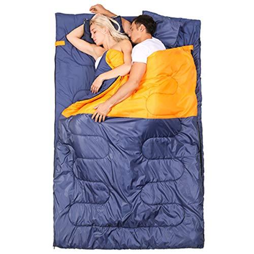 Freetrekker Schlafsack für 2 Personen 220x 145cm 3 Jahreszeiten Deckenschlafsack bis -10 °C Leichter Wasserdichter Winterschlafsack, für Outdoor Camping Wandern