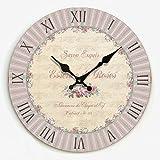 guazzbbia Das Wohnzimmer Dekoration Persönlichkeit Retro Wanduhr Uhr Kreative Schlafzimmer Wanduhr auf Modernen Minimalistischen Stumm 20 cm Ein Wanduhren Dekoartikel Digitale Wecker