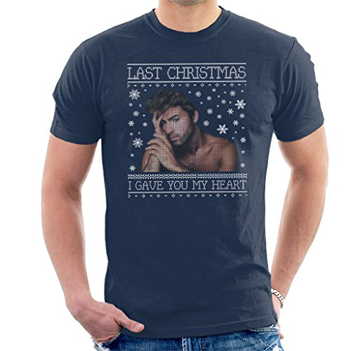 George Michael Last Christmas I Gave You My Heart Knit Men's T-Shirt