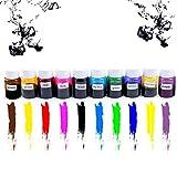 ETbotu 10 Farben DIY Kristall Spezial Farbe Konzentrat Epoxidharz Kristall Tropfen Handarbeit Material