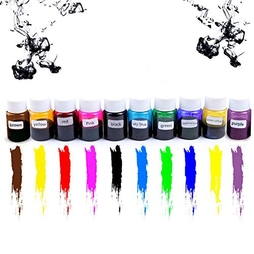 Alician 10 Colors DIY Crystal Special Color Concentrate Epoxy Resin Crystal Drops Hand Making Material