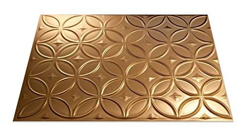 Fasade B61-25 Easy Installation Backsplash Rings Panel for Kitchen and Bathrooms, 18 x 24, Polished Copper by Fasade (Fasade Panels Backsplash)