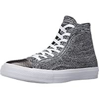 Converse Chuck Taylor All Star CTAS Flyknit HI, Black/Grey/White, 9