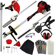T-Mech - Tagliaerba Multifunzione 5in1 52cc per Giardinaggio & Kit di Sicurezza