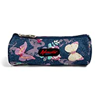 Advocator Pen Bag Chinoiserie Vintage Pastoral Blossom Butterfly Geometric Stripes Printing Students Stationery Pencil Case Holder Pocket Cosmetic Makeup Pouch