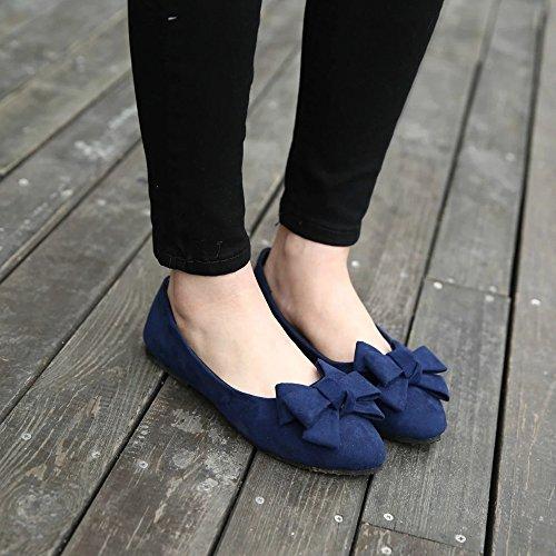 Hunpta Sommer Frauen Flats Schuhe Damen Casual Flat Loafers Slips Damenschuhe Blau