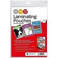 Laminating pouches 250 micron 20pk A4