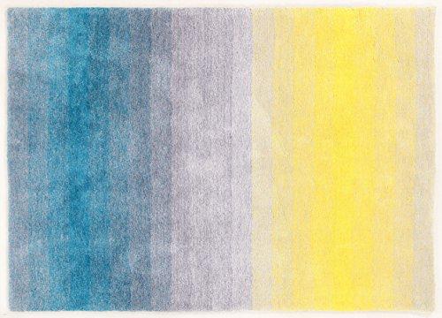 ABC Carpet sombreado gris claro azul amarillo de 60 x 120 cm
