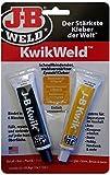 JB Weld KwikWeld, schnellbindender, stahlverstärkter 2-Komponenten Epoxid-Kleber, bindet in 6 Minuten, 8276-DEU