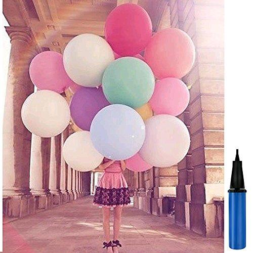 Luftballons 36 Zoll Werbung Luftballons Riese Ballons Groß Latex Ballon 100% Latex für Geburtstag Valentinstag Hochzeit Party Festival Qualitätsware (4 Ballons +1 Ballonpumpe) ()