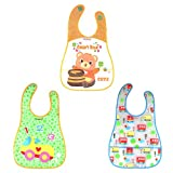 #8: WonderKart Set of 3 Waterproof Baby Apron Cum Bib - Random Colors and Designs