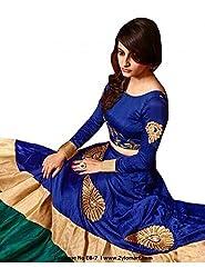 vaankosh fashion women blue cotton designer bollywood style lehenga /partywear lehenga/heavy embroidered lehenga