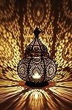 Orientalische Laterne aus Metall Ziva Schwarz 30cm | orientalisches...