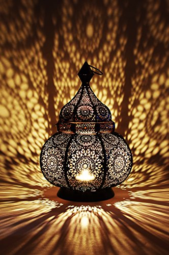 Lampe Outdoor Wand Laterne (Orientalisches Indisches Metal Windlicht Ziva)