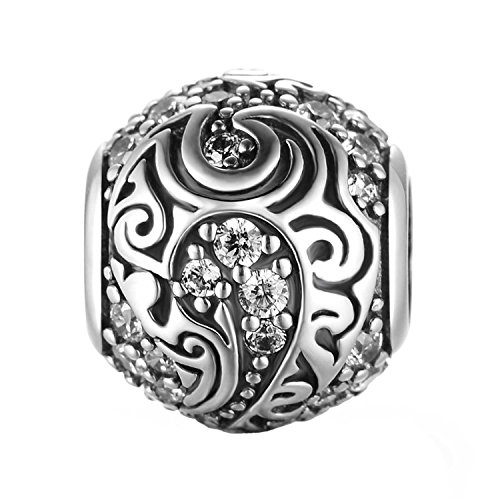 925 Sterling Silber Ich liebe dich Zirkonia Charm Fit Pandora Armbänder