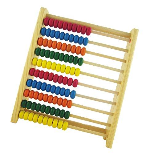 MagiDeal Kinder Hölzernes Zählen Abacus Bunte Perle Pädagogisches Lernen Mathe Spielzeug (Abacus Für Kinder)