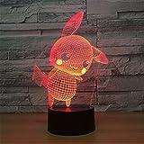 XIAOBIDENG 3D-LED-bunte Nacht Lampe Usb Batterie doppelten Zweck Kinder Lampe Acryl Touch Fernbedienung 3D-Lampen Kontaktschalter
