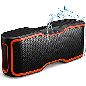 Wireless Bluetooth Lautsprecher, AOMAIS Wasserdichter IP67 Tragbarer Outdoor Lautsprecher mit 10w Stereo Subwoofer, Bluetooth 4.0, Mini Lautsprecher für Smartphone/iPod/MP3/iPad/Laptop/PC(Orange)