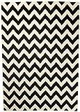 Carpeto Rugs TeppichWohnzimmer Zick Zack Modern Muster Schwarz Weiß 80 x 150 cm S