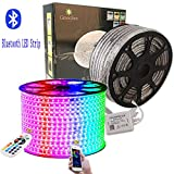 GreenSun LED Lighting Strip Streifen, 20M RGB 60LEDs/m 5050SMD Lichterkette, LED Lichtband Lichtschlauch 24 Tasten Fernbedienung Bluetooth Kontroll