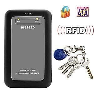 SHOPINNOV Boîtier pour disque dur SATA 2.5 pouces Sécurité RFID