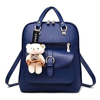 51qEQ4bXmrL. SS324  - TIBES Bolsa Mujer Mini mochila impermeable Mochila de cuero Mochila de estudiante