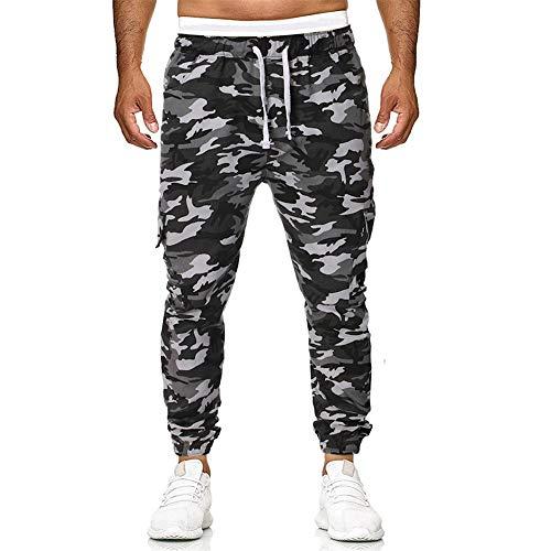 Aiserkly Herren Jogginghose Camouflage Elastic Joggings Sport Feste Baggy Hose Slim Fit Stoffhose Militär Army Freizeithose