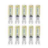 Kreema 10 ST?CKE G9 Bi-Pin Basis LED Gl¨¹hbirne 2835 SMD, 12 Watt Halogen Ersatzlampe, AC220V-240V Dimmbare Energiesparlampe Cool White LD119