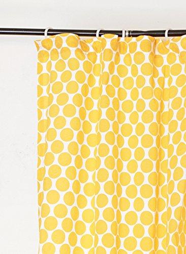 Cortina amarilla de algodón decorada, 54x63 cm