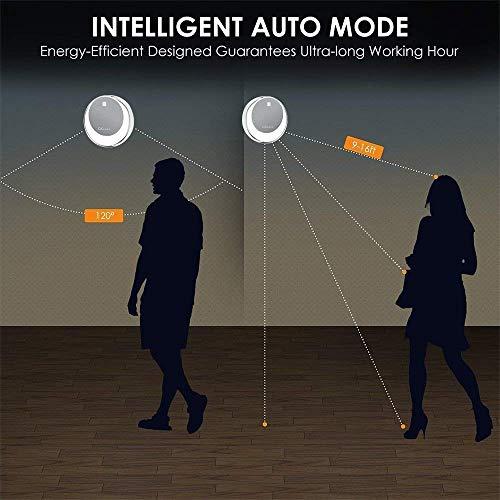 OKeanu LED Nachtlicht mit Bewegungsmelder, USB Aufladbare Nachtlampe LED Lichter, Auto ON/Off mit Bewegungsmelder,Wand- oder Schrankbeleuchtung, Überall Haftend(2 Pack, weißes)