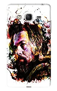 Blue Throat Man With Long Moutsache Printed Designer Back Cover/Case For Samsung Tizen Z3
