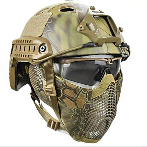 INOOY Airsoft Paintball Hard Hat-ABS Casco Hard Hat Casco para La Caza...