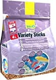 Tetra Pond Variety Sticks (Hauptfutter-Mix mit schwimmfähigen Futtersticks und Futterpellets, mit Farbverstärker), 4 Liter Beutel
