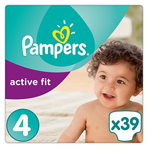 Pampers Premium Protection Active Fit Windeln, Gr. 4 Maxi (8-16 kg), 1er Pack (1 x 39 Stück)