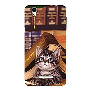 Cat Book Back Case Cover for YU Yureka Plus