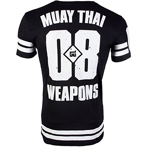 8 WEAPONS Muay Thai T-Shirt, Team 08, Tee, Thaiboxen, Kickboxen, MMA Größe XL -