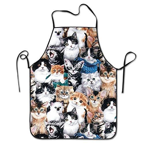 mfsore Niedliche Kitty - Katze Baby - personalisierter Schürzen Beruf Latzschürze für Frauen - Mann - Mädchen - Kind - Geschenke Küche Dekorationen -