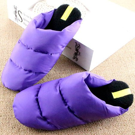 DogHaccd pantofole,Inverno in piuma di ispessimento pantofole di cotone leggero coppie soggiorno caldo scarpe antiscivolo fondo morbido cotone scarpe La porpora1