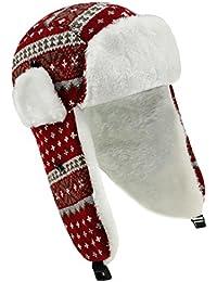 Fiebig Sombrero De Punto Para Niños Gorro Aviador Piel Invierno Casquillo Noruegos Con Forro Peluche (FI-71284-W16-JU0) incl. EveryHead-Hutfibel