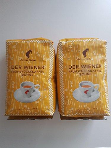Julius Meinl - Der Wiener - Frühstückskaffee ganze Bohnen (5 er Pack)