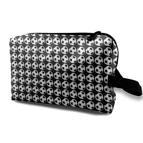 Soccer Prints Multifunction Travel Makeup Bags Shaving Kit Buggy Bag Organizers With Zipper -