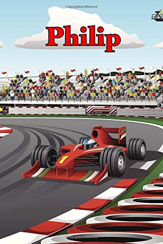 Philip: Racecar Blank Comic Book Notebook Journal book 120 pages 6
