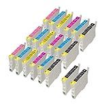 PerfectPrint Kompatibel Tinte Patrone Ersetzen für Epson Stylus Photo R-200 220 300 320 340 RX-500 600 620 640 T0487 (Schwarz/Cyan/Magenta/Gelb/Licht-Cyan/Licht-Magenta, 20-pack)