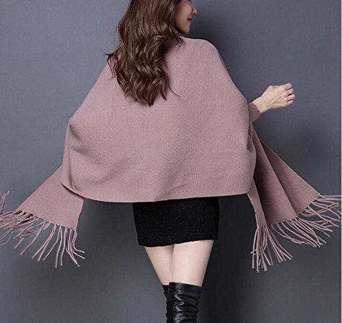 Sciarpa Autunno E Inverno Nappe Spessore Doppio Strato Stampa Maglione Fashion High-end Giacca Da Donna 9