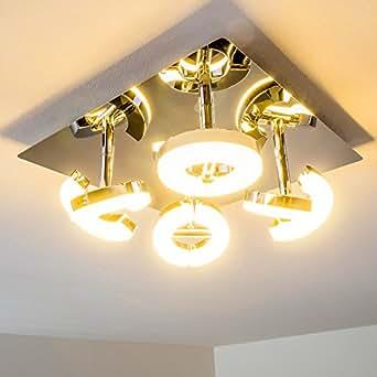 Plafonnier LED à 4 spots Paris - 4 x 6 Watt - 420 Lumen par spot - 1680 Lumen - Blanc chaud