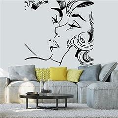 Idea Regalo - Adesivi Murali - Adesivi da Parete Removibili, Stickers Murali, Decorazione Murale Wall Stickers - pop art bacio kiss uomo donna
