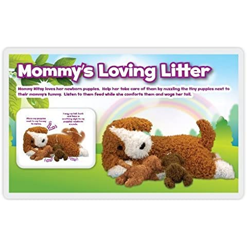 Amazimals Mommy's Loving Litter Labradoodle Play Set with Puppies by Blip (Puppy Litter)