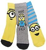 Jungen Minions 3 Packung Socke Auswahl aus Stile Toller Weihnachtsstrumpf Füller - Minions Stil 2, EU 36-38.5