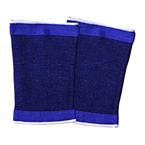 iXium 2 x Elasticated Thigh Supports - Hamstring Quadriceps Strain Compression Wrap Brace Sleeve Sports Injury Pain Relief Orthopedic Bandage - One Size Fits All Adults