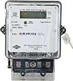 HPL 3 Phase 4 Wire Electrical Energy KWH Meter (White, Pack of 2)